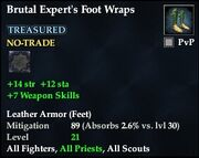 Brutal Expert's Foot Wraps