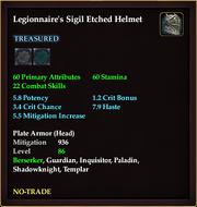 Legionnaire's Sigil Etched Helmet