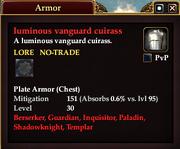 Luminous vanguard cuirass