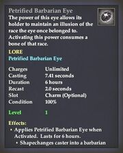 Petrified Barbarian Eye