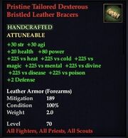 Pristine Tailored Dexterous Bristled Leather Bracers