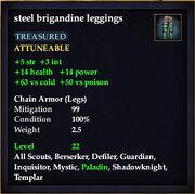 Steel brigandine leggings