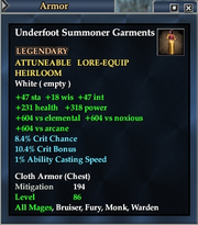 Underfoot Summoner Garments