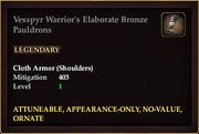 Vesspyr Warrior's Elaborate Bronze Pauldrons