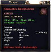 Adamantine Doomhammer