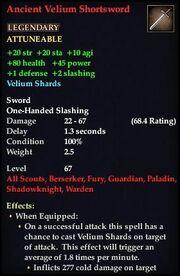 Ancient Velium Shortsword (Version 1)