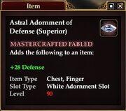 Astral Adornment of Defense (Superior)