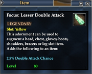 Focus- Lesser Double Attack