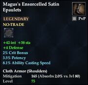 Magus's Ensorcelled Satin Epaulets