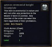 Qeynos ceremonial knight breastplate