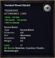 Twisted Wood Shield