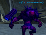 An enraged shadowbeast