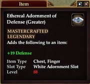 Ethereal Adornment of Defense (Greater)