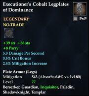 Executioner's Cobalt Legplates of Dominance