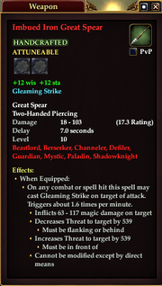 Imbued Iron Great Spear