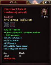 Ironweave Cloak of Unrelenting Assault