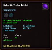 Kaboritic Tephra Trinket