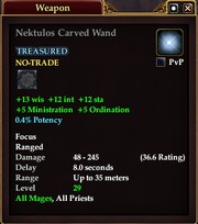 Nektulos Carved Wand