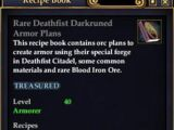 Rare Deathfist Darkruned Armor Plans