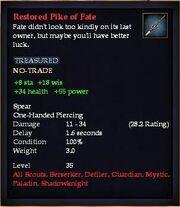 Restored Pike of Fate