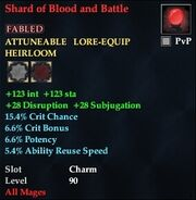 Shard of Blood and Battle