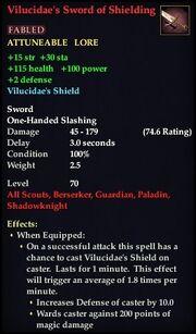 Vilucidae's Sword of Shielding