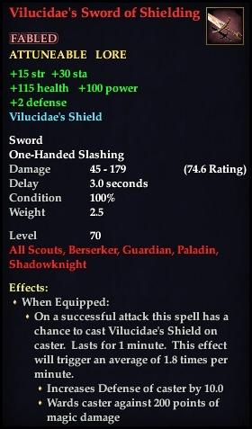 Vilucidae's Sword of Shielding | EverQuest 2 Wiki | FANDOM