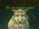 A lost sabrecat wanderer
