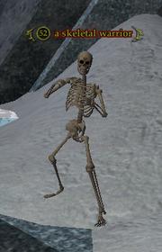 A skeletal warrior