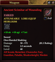 Ancient Scimitar of Wounding