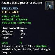 Arcane Handguards of Storms