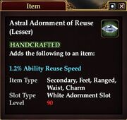 Astral Adornment of Reuse (Lesser)