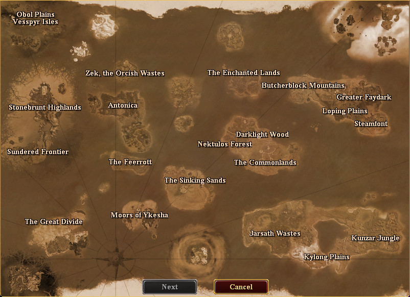 Druid Ring travel map