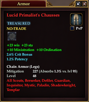 Lucid Primalist's Chausses