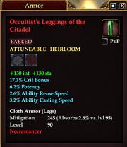 Occultist's Leggings of the Citadel