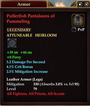 Pufferfish Pantaloons of Pummeling