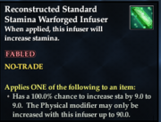 Reconstructed Standard Stamina Warforged Infuser