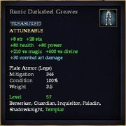 Runic Darksteel Greaves