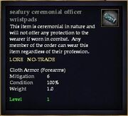 Seafury ceremonial officer wristpads