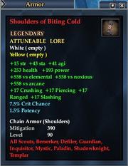Shoulders of Biting Cold