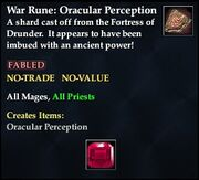 War Rune Oracular Perception