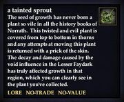A tainted sprout