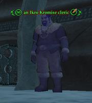 An Ikro Kromise cleric