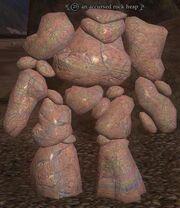 An accursed rock heap