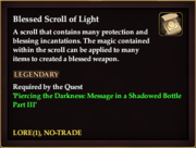 Blessed Scroll of Light