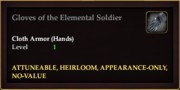 Gloves of the Elemental Soldier