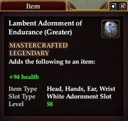 Lambent Adornment of Endurance (Greater)