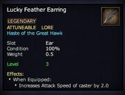 Lucky Feather Earring