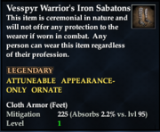 Vesspyr Warrior's Iron Sabatons