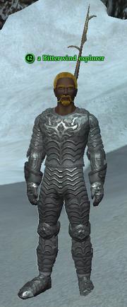 A Bitterwind explorer (heroic) (human)
